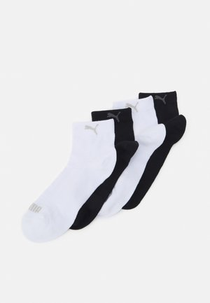 WOMEN QUARTER 4 PACK - Strumpor - black/white