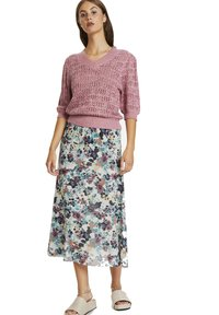 Soaked in Luxury - A-line skirt - vivid floral print white - 1