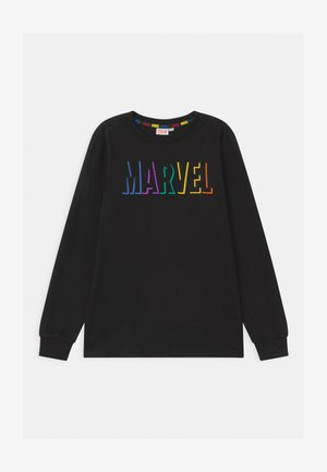 MULTICOLOR PRINT MARVEL - Top s dlouhým rukávem - black beauty