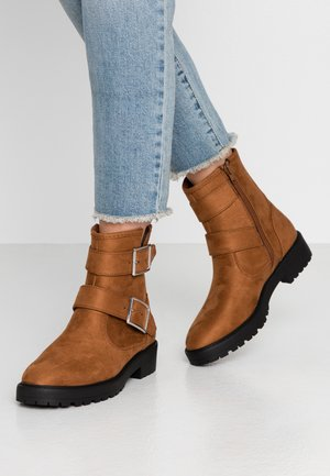 Kovbojské/motorkářské boty - cognac