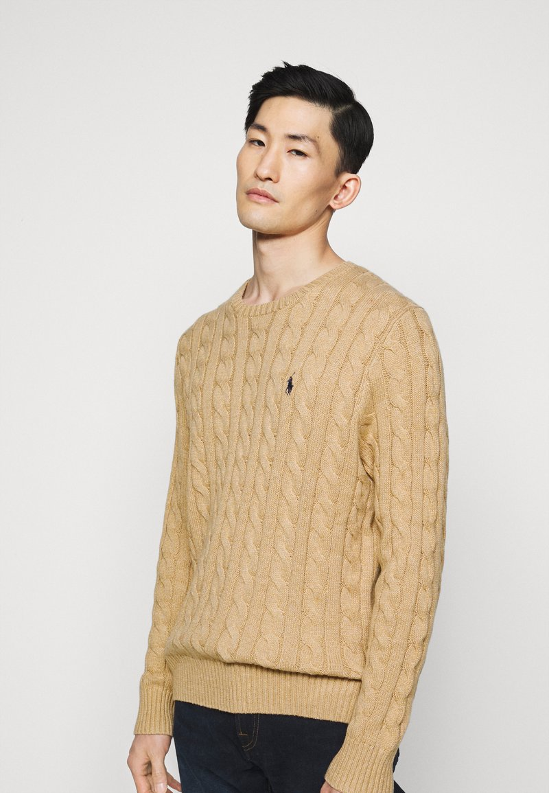 Polo Ralph Lauren - CABLE - Pullover - camel melange