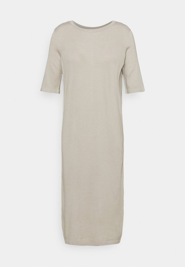 GINGER REVERSIBLE DRESS WOMAN - Pletené šaty - mole grey