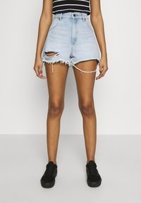 Rolla's - DUSTERS - Denim shorts - bleached denim, destroyed denim - 0