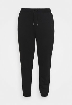 NMLUPA LOGO PANTS - Tracksuit bottoms - black