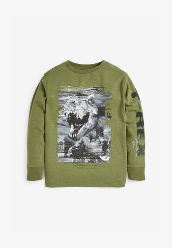 Langarmshirt - khaki