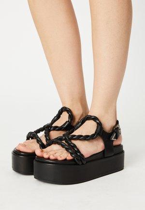 PORTIA - Platform sandals - black