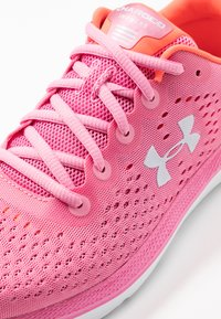 Under Armour - CHARGED IMPULSE - Zapatillas de running neutras - lipstick/white/halo gray - 5