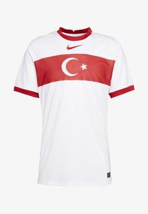 TÜRKEI HOME - Pelipaita - white/sport red