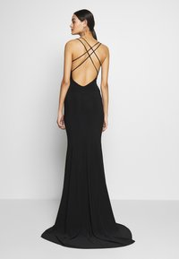 Club L London - DOUBLE STRAP CROSS BACK FISHTAIL MAXI DRESS - Ballkjole - black - 2