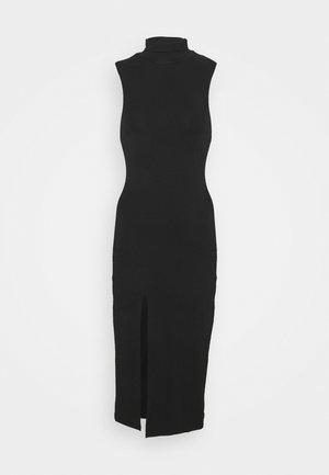 MOCK NECK MIDI DRESS - Koktejlové šaty/ šaty na párty - black