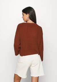Even&Odd - Strikpullover /Striktrøjer - brown - 2