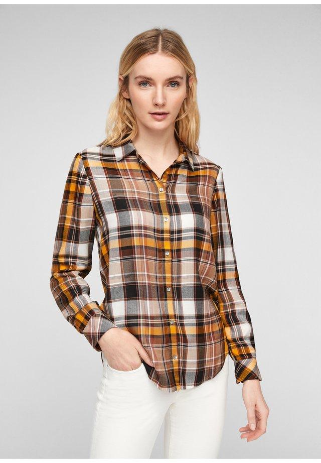 Overhemdblouse - brown check