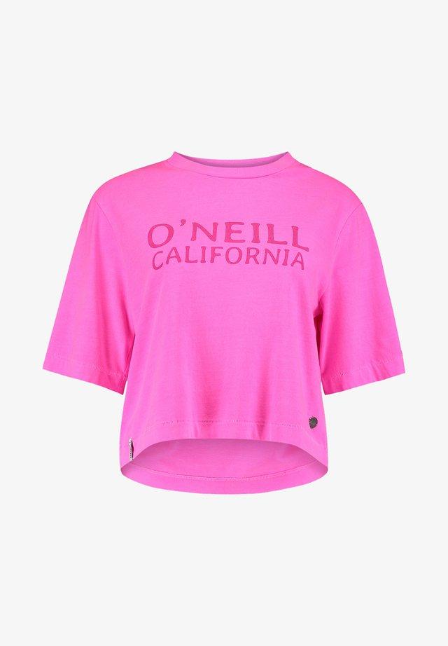 T-shirt imprimé - pink peacock