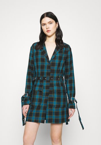 SKOOL DRESS - Day dress - teal/lime/black