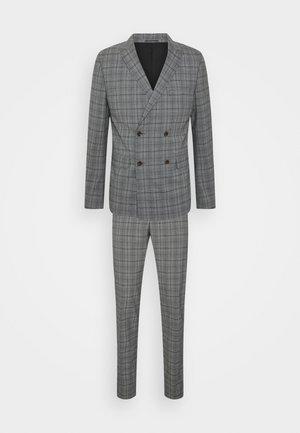 SUPERFLEX PEAK LAPEL SUIT - Dress - grey check