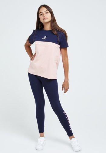 Printtipaita - navy & pink