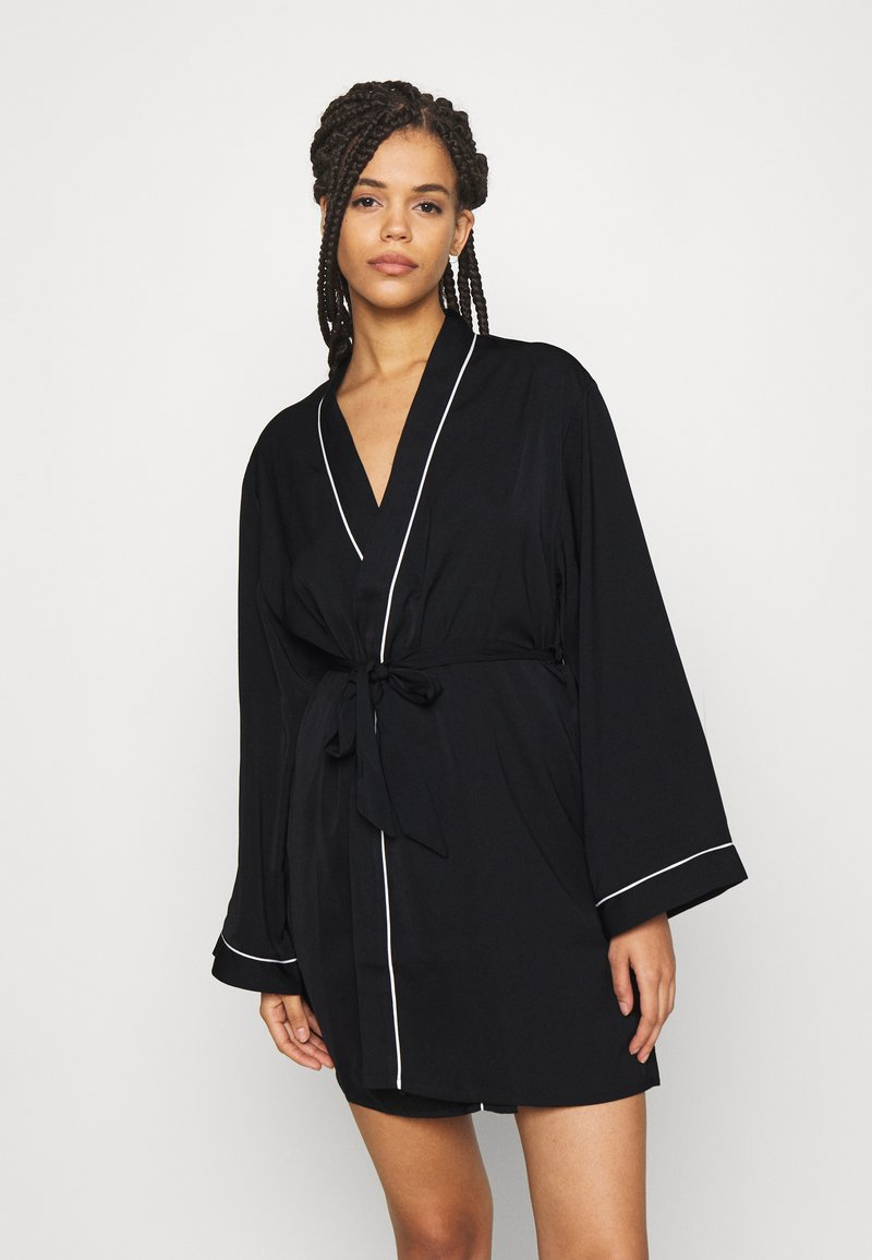Anna Field - AMANDA DRESSING GOWN  - Badjas - black