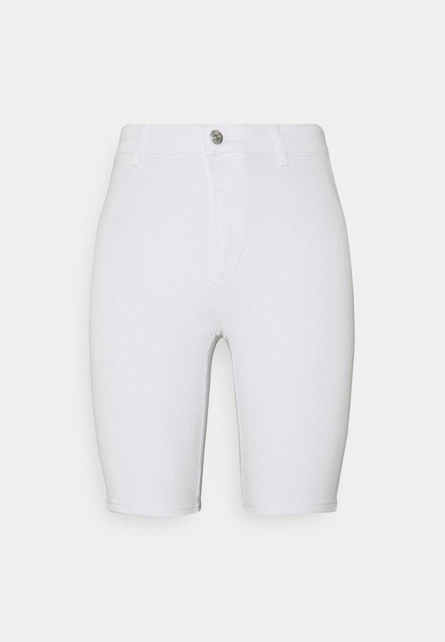 ONLROYAL BIKE - Džínové kraťasy - white