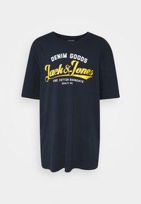 Jack & Jones - JJELOGO  - T-shirt imprimé - navy blazer - 0