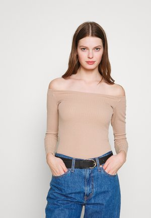 Long sleeved top - tan