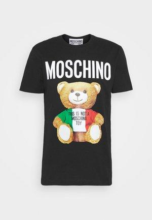 Print T-shirt - fantasy black