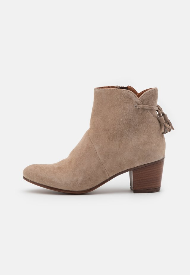 LEATHER - Classic ankle boots - brown