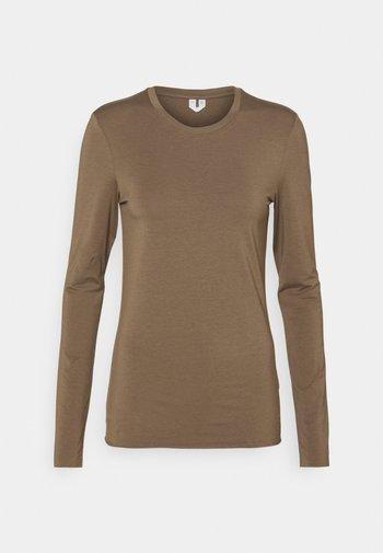 Langærmede T-shirts - taupe