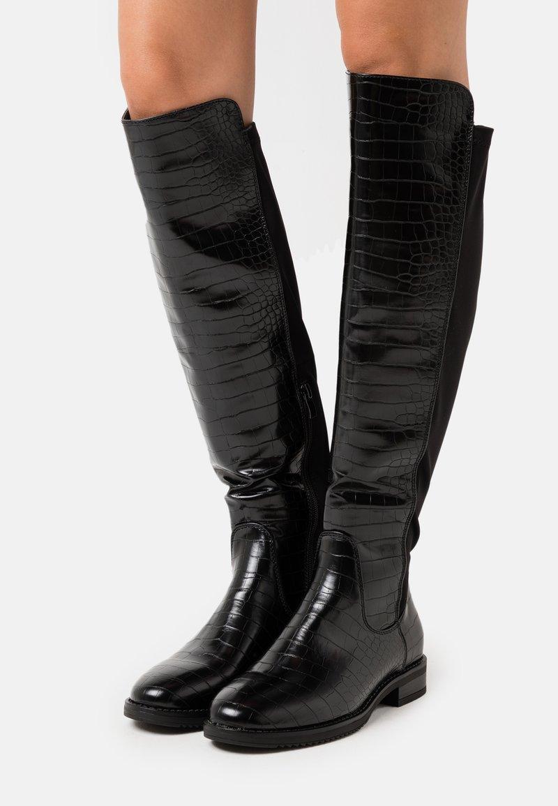 H.I.S - Kozačky nad kolena - black