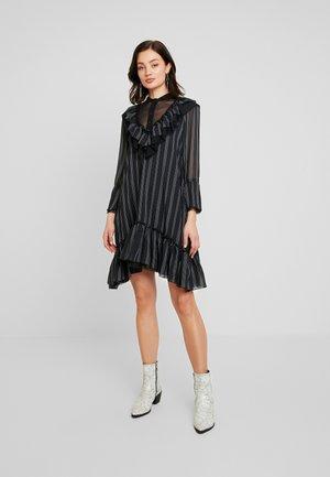 HEAVY NECKING DRESS - Skjortekjole - noir combo