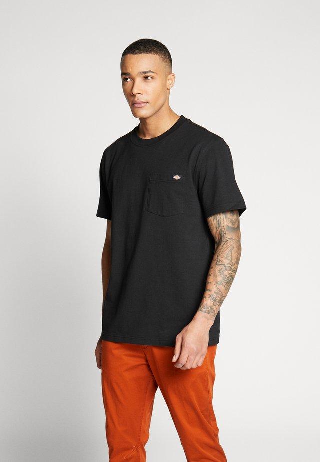 PORTERDALE POCKET - Basic T-shirt - black