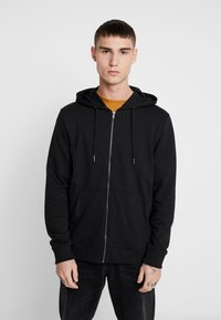 Only & Sons - ONSWINSTON ZIP HOODIE - Bluza rozpinana - black - 0