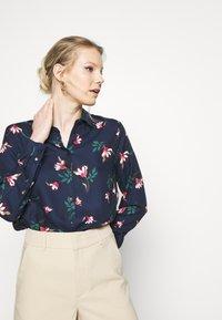 Seidensticker - LANGARM - Button-down blouse - navy - 3