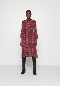 Esqualo - DRESS TUNNEL HEART PRINT - Shirt dress - berry - 0