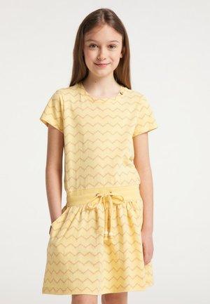 MAGY CHEVRON - Day dress - yellow