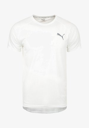 EVOSTRIPE  - Basic T-shirt - white