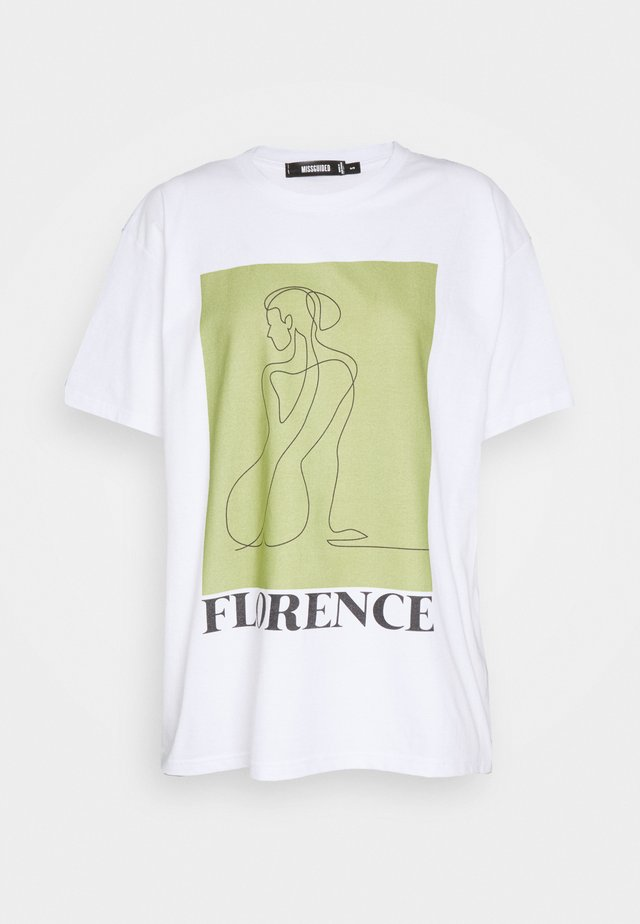 FLORENCE GRAPHIC - T-shirts med print - white