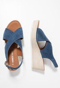 Marco Tozzi - Platform sandals - denim - 3