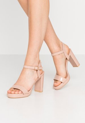QUEEN - High heeled sandals - oatmeal