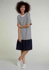 Oui - Day dress - white blue - 1