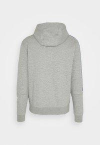 Nike Sportswear - REPEAT HOODIE - Sudadera con cremallera - dark grey heather/white - 1