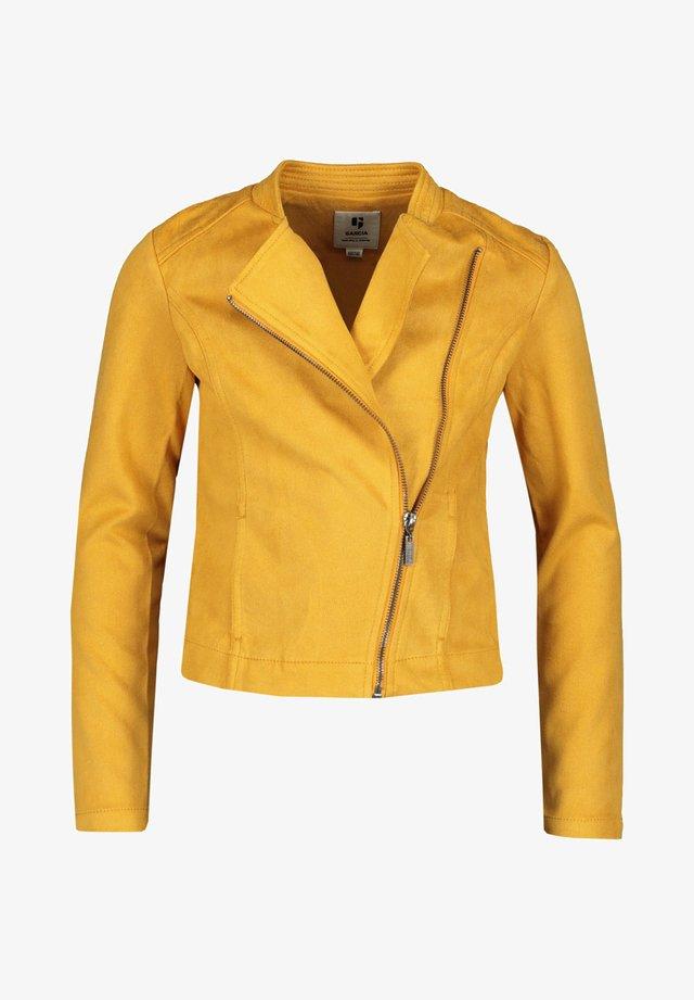 Faux leather jacket - senf