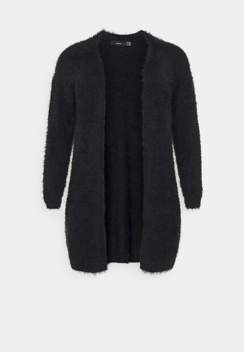 Vero Moda Curve - VMPOILU LONG OPEN CARDIGAN - Cardigan - black