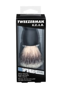 Tweezerman - GEAR SHAVE BRUSH AND STAND - Barberbørste - - - 1