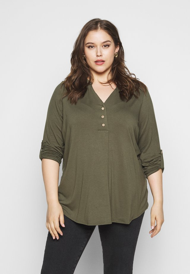 BUTTON - Topper langermet - khaki