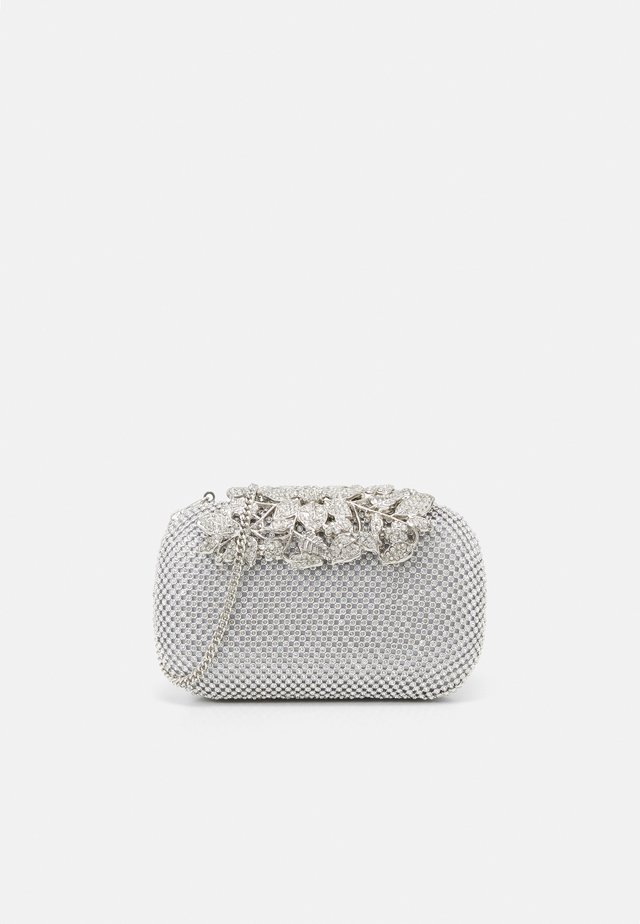KATIE EMBELLISHED CLASP CLUTCH - Pochette - silver glitter