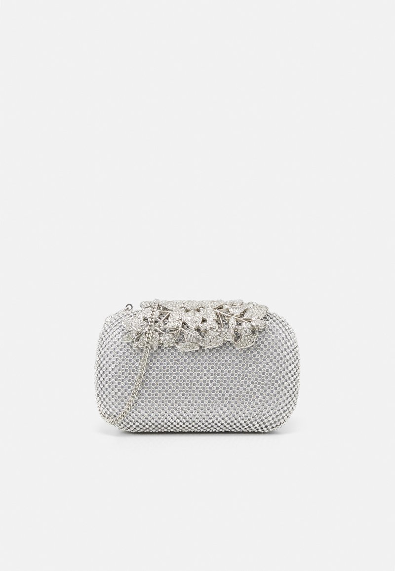 Forever New - KATIE EMBELLISHED CLASP CLUTCH - Clutch - silver glitter