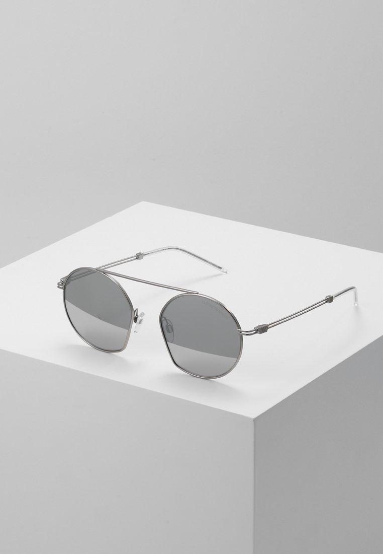 Emporio Armani - Sunglasses - matte silver-coloured