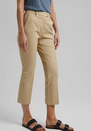 FASHION  - Trousers - sand