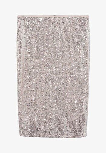 Pencil skirt - silber