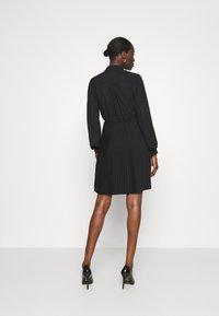 Closet - PLEATED DRESS - Shirt dress - black - 2